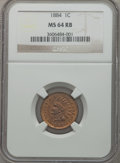 Indian Cents: , 1884 1C MS64 Red and Brown NGC. NGC Census: (130/138). PCGSPopulation (227/76). Mintage: 23,261,742. Numismedia Wsl. Price...