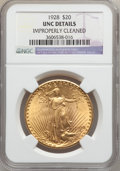 Saint-Gaudens Double Eagles: , 1928 $20 -- Improperly Cleaned -- NGC Details. Unc. NGC Census: (188/46979). PCGS Population (373/46574). Mintage: 8,816,00...