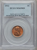 Lincoln Cents: , 1912 1C MS65 Red PCGS. PCGS Population (232/88). NGC Census:(71/11). Mintage: 68,153,056. Numismedia Wsl. Price for proble...