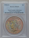 Peace Dollars: , 1926-S $1 MS64 PCGS. PCGS Population (2016/654). NGC Census:(1757/425). Mintage: 6,980,000. Numismedia Wsl. Price for prob...
