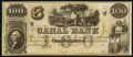 Obsoletes By State:Louisiana, New Orleans, LA- Canal Bank $100 18__. ...