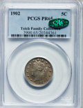 Proof Liberty Nickels: , 1902 5C PR65 PCGS. CAC. PCGS Population (131/75). NGC Census:(140/103). Mintage: 2,018. Numismedia Wsl. Price for problem ...