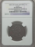 Large Cents, 1803 1C Small Date, Small Fraction -- Environmental Damage -- NGCDetails. XF. S-251. NGC Census: (32/192). PCGS Populatio...