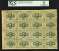 Fractional Currency:First Issue, Sheet of Sixteen Fr. 1242 10¢ First Issue PCGS Apparent Very Fine35.. ...