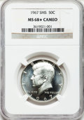 SMS Kennedy Half Dollars: , 1967 50C SMS MS68 ★ Cameo NGC. NGC Census: (122/2). PCGS Population(33/0). Numismedia Wsl. ...
