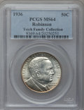 Commemorative Silver: , 1936 50C Robinson MS64 PCGS. PCGS Population (1837/1530). NGCCensus: (1121/1016). Mintage: 25,265. Numismedia Wsl. Price f...
