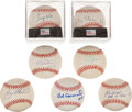 Autographs:Baseballs, Baseball Greats Single Signed Baseballs Lot Of 7...