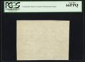 "Fractional Currency:First Issue, ""CSA"" Watermarked Paper - Single Block. PCGS Gem New 66 PPQ.. ..."
