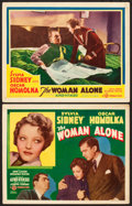 "Movie Posters:Hitchcock, The Woman Alone (Gaumont, 1937). Title Lobby Card and Lobby Card(11"" X 14""). Alternate Title: Sabotage.. ... (Total: 2Items)"