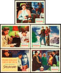 """Movie Posters:Hitchcock, Spellbound (United Artists, 1945). Title Lobby Card and Lobby Cards(4) (11"""" X 14"""").. ... (Total: 5 Items)"""