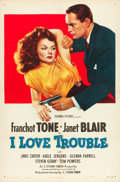 "Movie Posters:Film Noir, I Love Trouble (Columbia, 1948). One Sheet (27"" X 41"").. ..."
