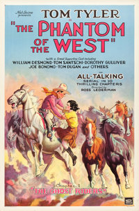 "The Phantom of the West (Mascot, 1931). One Sheets (9) (27"" X 41""). ... (Total: 9 Items)"