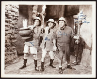 """The Three Stooges in We Want Our Mummy (Columbia, 1939). Autographed Photo (8"""" X 10"""")"""
