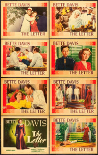 """The Letter (Warner Brothers, 1940). Lobby Card Set of 8 (11"""" X 14""""). ... (Total: 8 Items)"""