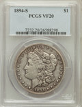 Morgan Dollars: , 1894-S $1 VF20 PCGS. PCGS Population (26/4030). NGC Census:(26/2463). Mintage: 1,260,000. Numismedia Wsl. Price for proble...