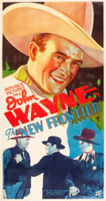 "Movie Posters:Western, The New Frontier (Republic, 1935). Three Sheet (41.5"" X 78.5"").. ..."