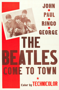 "The Beatles Come to Town (Pathé, 1963). One Sheet (27"" X 41"")"