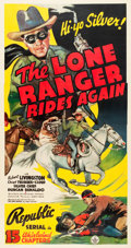 "Movie Posters:Serial, The Lone Ranger Rides Again (Republic, 1939). Three Sheet (41.5"" X79"").. ..."