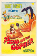 "Movie Posters:Animation, Pluto and the Gopher (RKO, 1950). One Sheet (27"" X 41"").. ..."