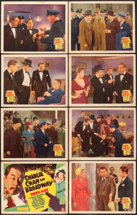 """Charlie Chan on Broadway (20th Century Fox, 1937). Lobby Card Set of 8 (11"""" X 14""""). ... (Total: 8 Items)"""