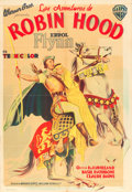 "Movie Posters:Swashbuckler, The Adventures of Robin Hood (Warner Brothers, 1938). ArgentineanOne Sheet (29"" X 43"").. ..."