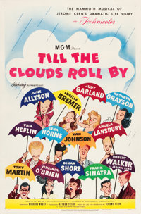 """Till the Clouds Roll By (MGM, 1946). One Sheet (27"""" X 41"""") Hirschfeld Art Style B"""