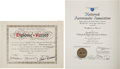 Explorers:Space Exploration, Skylab III (SL-4) World Record Certification Documents Directly from the Personal Collection of Mission Pilot William Pogue, w... (Total: 2 )
