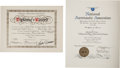 Explorers:Space Exploration, Skylab III (SL-4) World Record Certification Documents Directlyfrom the Personal Collection of Mission Pilot William Pogue, w...(Total: 2 )