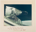 """Autographs:Celebrities, Gemini 6A: Large Color Rendezvous Photo Crew-Signed on the Mat Directly from the Personal Collection of Astronaut """"Den..."""