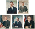 Autographs:Celebrities, Mercury Seven Astronauts: Five Individual Signed Vintage NASA Color Photos Directly from the Personal Collection of Astronaut ... (Total: 5 Items)