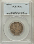 Barber Quarters: , 1896-O 25C Good 6 PCGS. PCGS Population (17/145). NGC Census:(5/100). Mintage: 1,484,000. Numismedia Wsl. Price for proble...