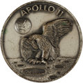 Explorers:Space Exploration, Apollo 11 Unflown Silver Robbins Medallion, Serial Number 165. ...