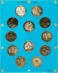 Explorers:Space Exploration, Apollo Flights: Set of Twelve Medals in Display....