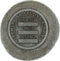 "Explorers:Space Exploration, Apollo 11 Unflown Reverse ""Specimen"" Strike on Odd-Shaped Pewter(?) Disc Originally from the Personal Collection of Mission C..."