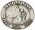 Explorers:Space Exploration, Apollo 14 Flown Silver Robbins Medallion Directly from the PersonalCollection of Mission Support Crew Member William Pogue, S...