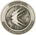 Explorers:Space Exploration, Apollo 15 Unflown Silver Robbins Medallion Directly from thePersonal Collection of Astronaut William Pogue, Serial Number267...