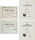 Explorers:Space Exploration, Skylab III (SL-4) World Record Certification Documents Directly from the Personal Collection of Mission Pilot William Pogue, w... (Total: 4 )