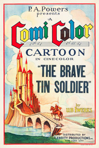 "The Brave Tin Soldier (Powers ComiColor, 1934). One Sheet (27"" X 41"")"