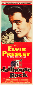"Movie Posters:Elvis Presley, Jailhouse Rock (MGM, 1957). Insert (14"" X 36"").. ..."