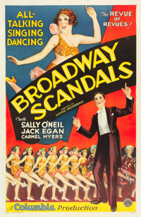 "Broadway Scandals (Columbia, 1929). One Sheet (27"" X 41""). Musical"