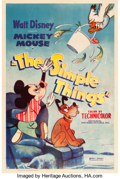 The Simple Things Rko 1952 One Sheet 27 X 41 Movie Lot 83341 Heritage Auctions