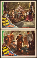 "Movie Posters:Horror, The Wolf Man (Universal, 1941). Lobby Cards (2) (11"" X 14"").. ...(Total: 2 Items)"