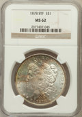 Morgan Dollars: , 1878 8TF $1 MS62 NGC. NGC Census: (1612/5008). PCGS Population(1996/6643). Mintage: 699,300. Numismedia Wsl. Price for pro...