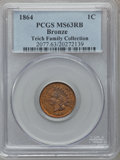 Indian Cents: , 1864 1C Bronze No L MS63 Red and Brown PCGS. PCGS Population(133/585). NGC Census: (56/480). Mintage: 39,233,712. Numismed...