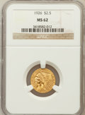 Indian Quarter Eagles: , 1926 $2 1/2 MS62 NGC. NGC Census: (5673/8293). PCGS Population(3059/6378). Mintage: 446,000. Numismedia Wsl. Price for pro...