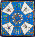 "Luxury Accessories:Accessories, Hermes Blue & White ""L'Armee Imperiale Russe,"" by Michele Duchene Silk Scarf. ..."