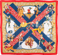 "Luxury Accessories:Accessories, Hermes Red, White & Blue ""Les Ballets Russes,"" by Annie FaivreSilk Scarf. ..."