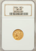 Indian Quarter Eagles: , 1929 $2 1/2 MS63 NGC. NGC Census: (5586/2924). PCGS Population(3674/1656). Mintage: 532,000. Numismedia Wsl. Price for pro...