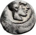 Ancients:Judaea, Ancients: Philistia (5-4 centuries BC). AR quarter-shekel (15.3mm,3.44 gm, 10h)....