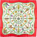 "Luxury Accessories:Accessories, Hermes Red, White & Green ""Qu'Importe le Flacon,"" by CatherineBaschet Silk Scarf. ..."